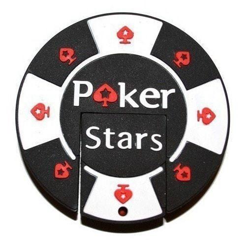 Подарочная флешка. Покерная фишка Poker Stars (фото, вид 1)