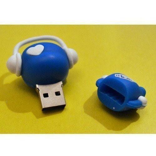 Подарочная флешка. Музыкальный человек (синий) (фото, вид 1)