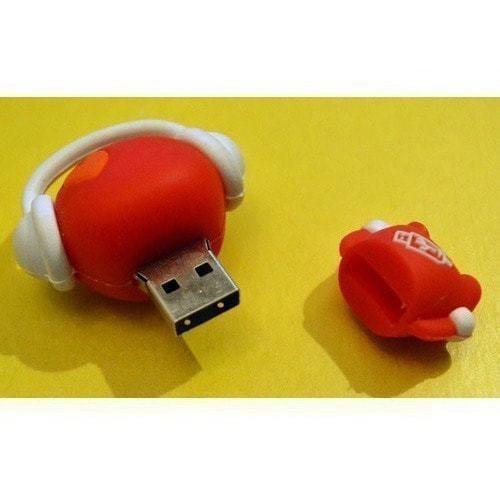 Подарочная флешка. Музыкальный человек (красный) (фото, вид 1)