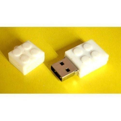 Подарочная флешка. Конструктор Лего. Белый (фото, вид 1)