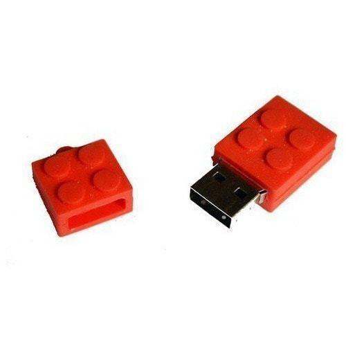 Подарочная флешка. Конструктор Лего. Красный (фото, вид 1)
