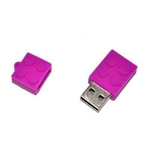 Подарочная флешка. Конструктор Лего фиолетовый (фото, вид 1)