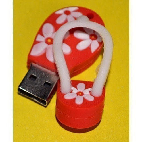 Подарочная флешка. Шлепанец красный (фото, вид 1)