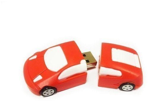 Подарочная флешка. Автомобиль (цвет красный) (фото, вид 1)