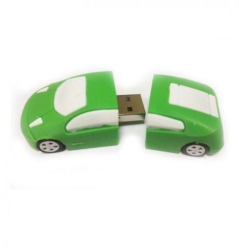 Подарочная флешка. Автомобиль (цвет зеленый) (фото, вид 1)