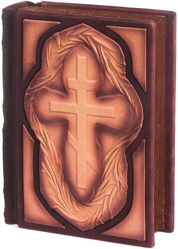 Подарочная книга в кожаном переплете. Библия. Иллюстрированный Ветхий Завет в 2-х томах (в коробе) (фото, вид 2)