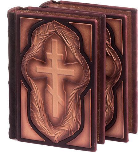 Подарочная книга в кожаном переплете. Библия. Иллюстрированный Ветхий Завет в 2-х томах (в коробе) (фото, вид 3)