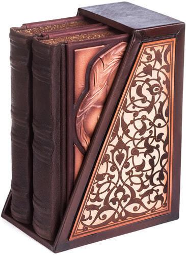 Подарочная книга в кожаном переплете. Библия. Иллюстрированный Ветхий Завет в 2-х томах (в коробе) (фото, вид 7)