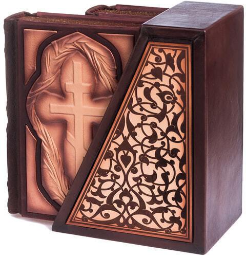 Подарочная книга в кожаном переплете. Библия. Иллюстрированный Ветхий Завет в 2-х томах (в коробе) (фото, вид 8)