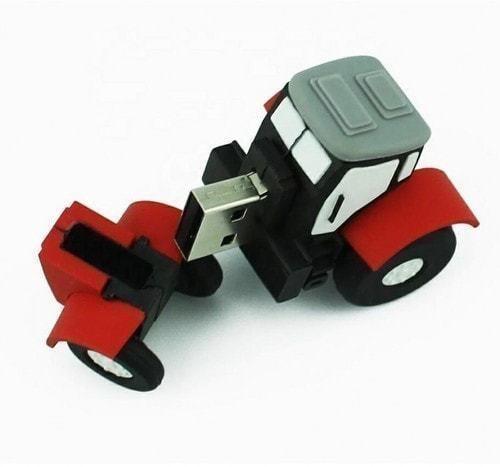 Подарочная флешка. Строительная техника. Трактор (фото, вид 1)
