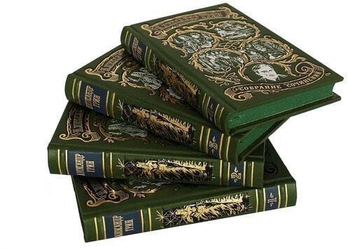 Подарочная книга в кожаном переплете. Грин А.С. Собрание сочинений в 6-ти томах (фото, вид 2)