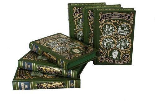Подарочная книга в кожаном переплете. Грин А.С. Собрание сочинений в 6-ти томах (фото, вид 4)