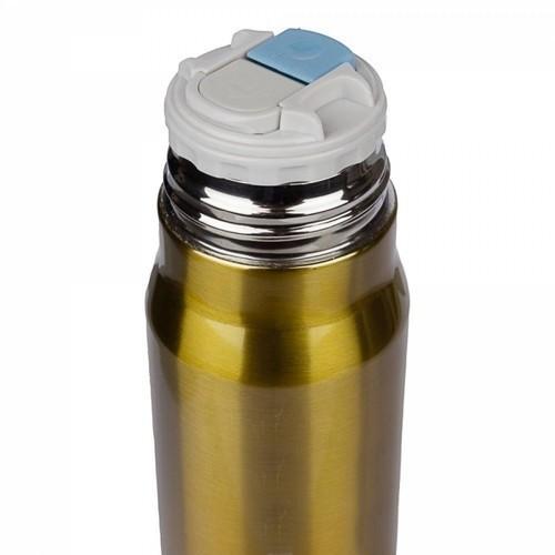 Подарочная термокружка. Пистолетный патрон (цвет золото) (фото, вид 1)