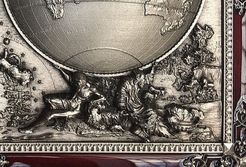 """Панно """"Карта Мира"""" (20 х 25 см) (фото, вид 1)"""