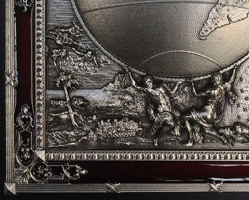 """Панно """"Карта Мира"""" (20 х 25 см) (фото, вид 2)"""