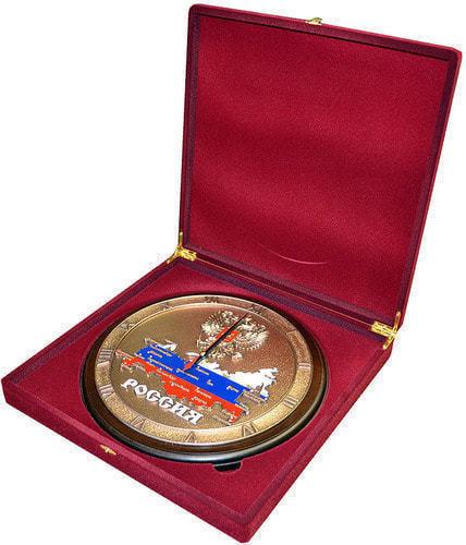 """Настенные часы """"Карта России"""" в подарочной упаковке (29 см) (фото, вид 1)"""