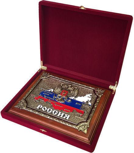 """Панно """"РОССИЯ"""" в подарочной упаковке (20 х 25 см) (фото, вид 1)"""