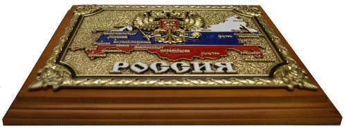 """Панно """"РОССИЯ"""" в подарочной упаковке (20 х 25 см) (фото, вид 2)"""