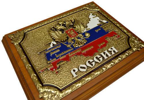 """Панно """"РОССИЯ"""" в подарочной упаковке (20 х 25 см) (фото, вид 3)"""