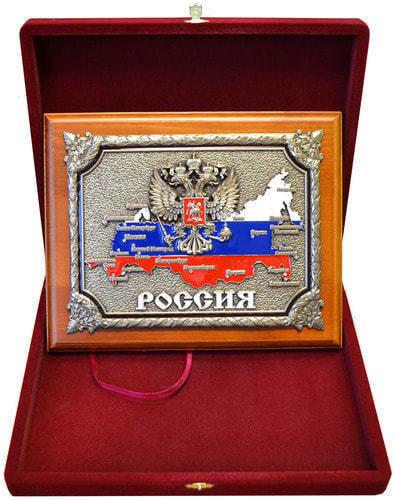 """Панно """"РОССИЯ"""" в подарочной упаковке (20 х 25 см) (фото, вид 4)"""