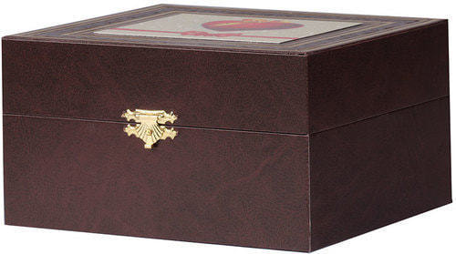 Подарочный набор c подстаканником в футляре (3 предмета). С любовью (фото, вид 1)
