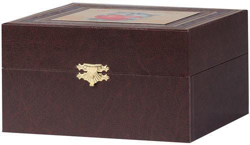 Подарочный набор c подстаканником в футляре (3 предмета). Любви и счастья (фото, вид 1)