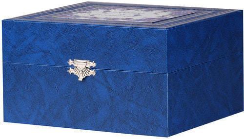 Подарочный набор c подстаканником в футляре (3 предмета). Любви и благополучия (фото, вид 1)