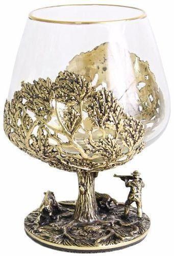 Подарочный набор c 2-мя бокалами для коньяка в шкатулке. Охота на Кабана и Охота на Медведя (фото, вид 4)