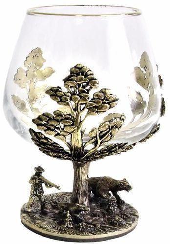 Подарочный набор c 2-мя бокалами для коньяка в шкатулке. Охота на Кабана и Охота на Медведя (фото, вид 6)