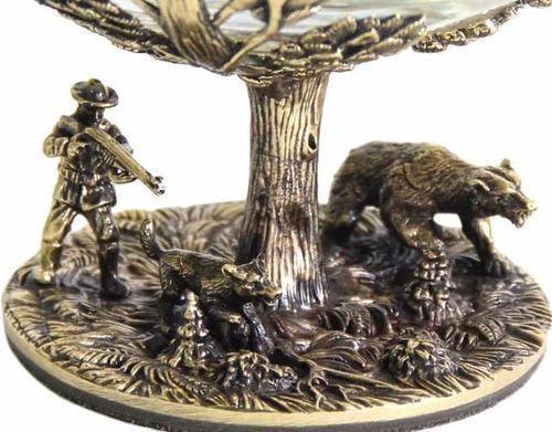 Подарочный набор c 2-мя бокалами для коньяка в шкатулке. Охота на Кабана и Охота на Медведя (фото, вид 7)