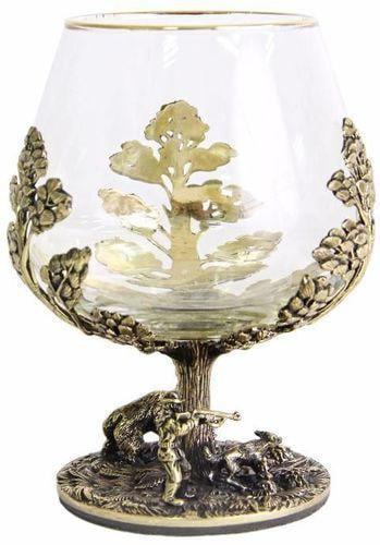 Подарочный набор c 2-мя бокалами для коньяка в шкатулке. Охота на Кабана и Охота на Медведя (фото, вид 8)