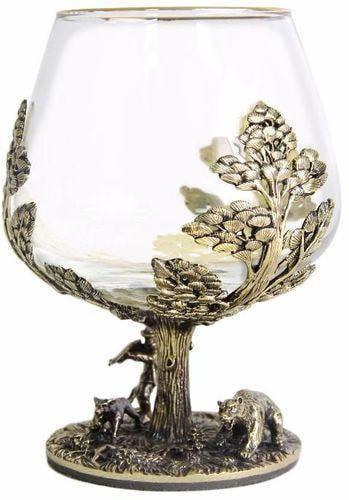 Подарочный набор c 2-мя бокалами для коньяка в шкатулке. Охота на Кабана и Охота на Медведя (фото, вид 9)