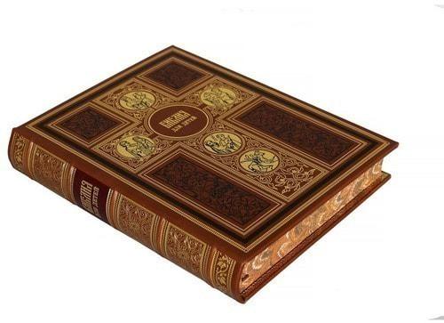 Подарочная книга в кожаном переплете. Библия для детей (фото, вид 1)