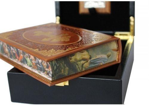 Подарочный набор с книгой в кожаном переплете. Молитвослов с иконой Ангел Хранитель (фото, вид 5)