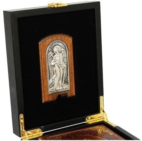 Подарочный набор с книгой в кожаном переплете. Молитвослов с иконой Ангел Хранитель (фото, вид 7)