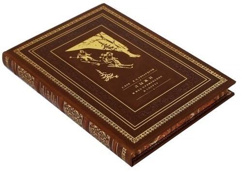 Подарочная книга в кожаном переплете. Лыжи и их применения к спорту (фото, вид 1)