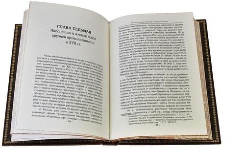 Подарочная книга в кожаном переплете. Очерк по истории русской промышленности (фото, вид 2)