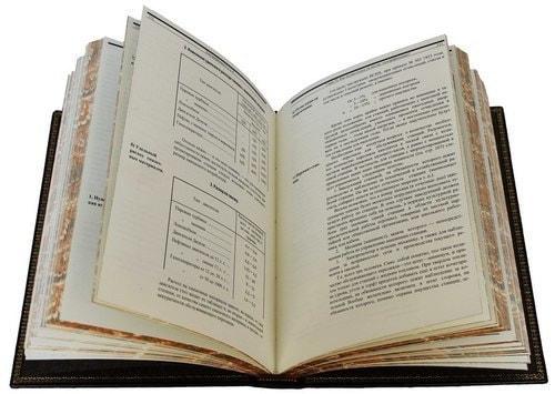 Подарочная книга в кожаном переплете. Электрификация СССР (фото, вид 2)