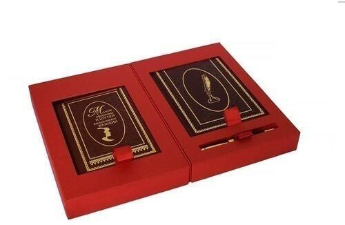 Подарочный набор с книгой и ежедневником в кожаном переплете. Мысли, афоризмы и шутки выдающихся женщин (фото, вид 3)