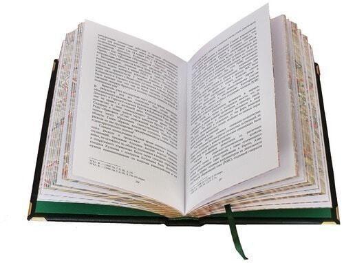 Подарочная книга в кожаном переплете. Казачество. Исход и возрождение (в футляре) (фото, вид 3)