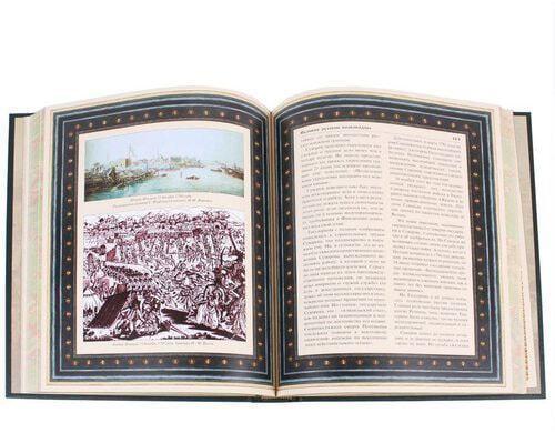 Книга в кожаном переплете и подарочном коробе. Великие русские полководцы (фото, вид 3)