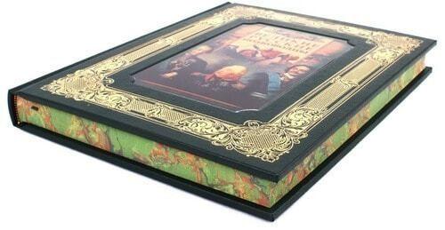 Книга в кожаном переплете и подарочном коробе. Великие русские полководцы (фото, вид 4)