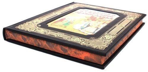 Книга в кожаном переплете и подарочном коробе. Праздники и святыни православия (фото, вид 4)