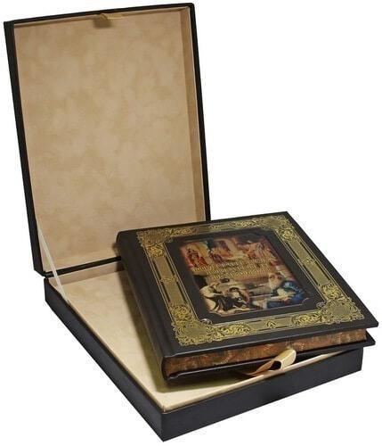 Книга в кожаном переплете и подарочном коробе. Притчи всех времен и народов (фото, вид 3)