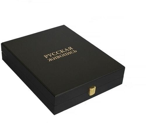 Книга в кожаном переплете и подарочном коробе. Русская живопись (фото, вид 1)