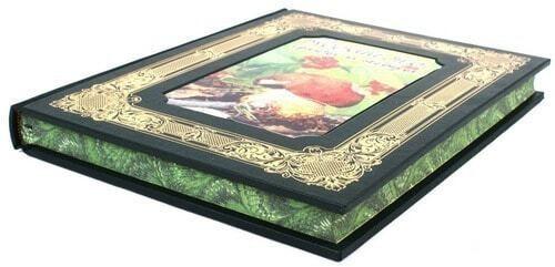 Книга в кожаном переплете и подарочном коробе. Русский лес. Грибы и ягоды (фото, вид 4)