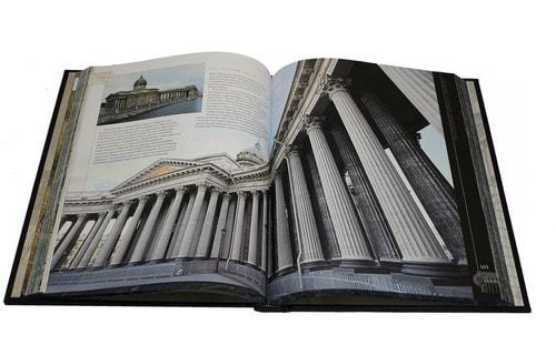 Книга в кожаном переплете и подарочном коробе. Шедевры русской архитектуры (фото, вид 2)