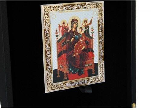 Подарочный набор с книгой в кожаном переплете. Православная энциклопедия с иконой (фото, вид 5)