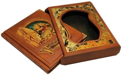 Подарочная книга в кожаном переплете. Мудрые мысли о деньгах и богатстве (в футляре) (фото, вид 1)