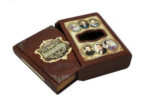Подарочная книга в кожаном переплете. Великие имена. Александр (в футляре) (фото, вид 1)